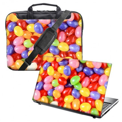 "Torba na notebooka laptopa 15"" - 15.6"" + vinylowa okładka na lapropa"