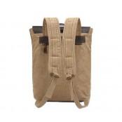 P1 Plecak  'VINTAGE'  płótno-skóra naturalna A4. Szary
