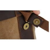 P1 Plecak 'VINTAGE' płótno-skóra naturalna A4.