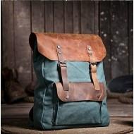 A499  P2 Plecak 'VINTAGE 2' płótno-skóra naturalna A4. 7 kolorów