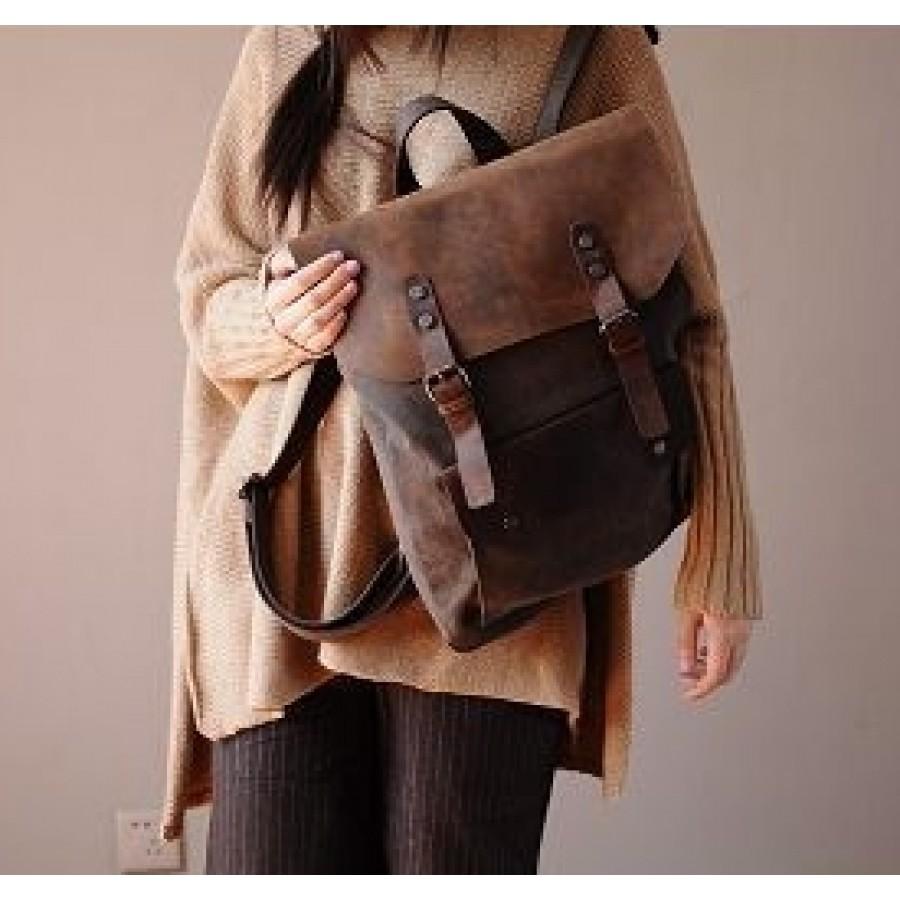 122440e1b24c2 Plecak VINTAGE 2 płótno-skóra naturalna A4 Szary - ☆ Torby i ...