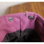 501 Plecak 'VINTAGE 2' płótno-skóra naturalna A4. Czerwony