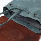 P3 Plecak 'VINTAGE 3' płótno - skóra naturalna A4 Szary