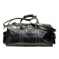 #P3 'Portland' ™ Torba podróżna Vintage, skóra naturalna, czarny