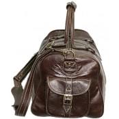 #P4 'Portland' ™ Torba podróżna Vintage, skóra naturalna, brązowy