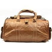 Z#P1 'Portland' ™ Torba podróżna Vintage, skóra naturalna, jasny brąz
