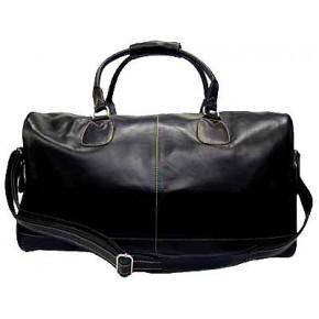 Z#P8 'Portland II' ™ Torba podróżna Vintage, skóra naturalna, czarna