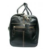 #P8 'Portland II' ™ Torba podróżna Vintage, skóra naturalna, czarna