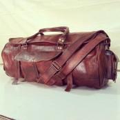 """#01 'Vintage Traveller MAX'.28"""" Torba podróżna, skóra naturalna, vintage"""