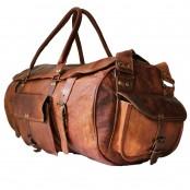 """#01 'Vintage Traveller MAX'.24"""" Torba podróżna, skóra naturalna, vintage"""