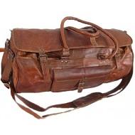 """#01 'Vintage Traveller MAX'.22"""" Torba podróżna, skóra naturalna, vintage"""