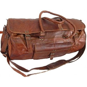 """TP1 'Vintage Traveller MAX'.22"""" Torba podróżna, skóra naturalna, vintage"""