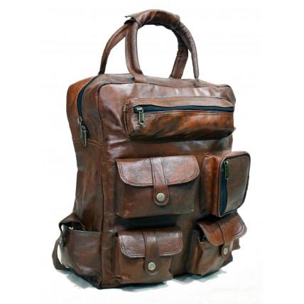 #H3 Torba podróżna 'Vintage Lanuti', plecak skóra kożlęca L