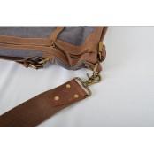 PZ3 ''Vamp 3 Vintage'  torba podróżna, bawełna-skóra