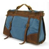 PZ3 Vamp 3 Vintage™ torba podróżna, bawełna i skóra naturalna.Damska i męska. Kolor: kawowy