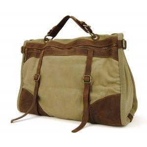 PZ3 Vamp 3 Vintage™ torba podróżna, bawełna i skóra naturalna.Damska i męska. Kolor: khaki