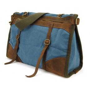 PZ3 Vamp 3 Vintage™ torba podróżna, bawełna i skóra naturalna.Damska i męska. Kolor: niebieski