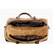 3. WaxCover Holdall Vintage™ Podręczna torba podróżna, weekendowa. Gruba bawełna woskowana i skóra naturalna. Damska / męska. Kolor: zielona