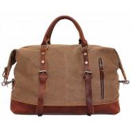 A4112b 'Vamp 1 Vintage'™ torba podróżna płótno-skóra, Unisex