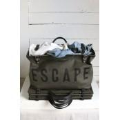 A399 ESCAPE™  Uniwersalna torba na ramię. Bawełna i skóra naturalna.
