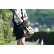 A4094 GASTEE TOTE™  Damska miejska torba na ramię. Bawełna skóra eco