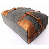 A404 HIPSTER DUFFLE  Damska miejska torba na ramię. Bawełna skóra. Unisex