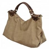 A4101 JACKS™ Damska miejska torba na ramię bawełna skóra naturalna