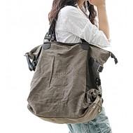 A4099 KOUKO'™ Damska miejska torba na ramię. Bawełna skóra