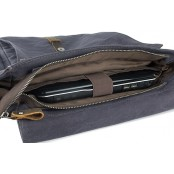 A4096 MAIA 2w1™ Plecak - torba na ramię płótno - skóra naturalna damska