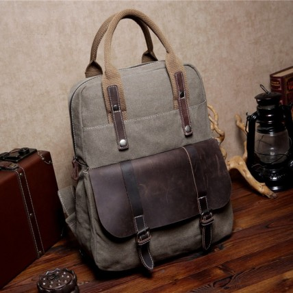 447 MEXICAN 6 ™ hipsterska torba-plecak bawełna skóra