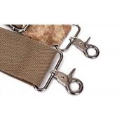 442 MEXICAN™ Torba na ramię bawełna - skóra, unisex