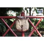 A4096 HAAKON VINTAGE™ Damska miejska torba na ramię. Bawełna skóra nat.