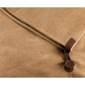 A4 'TRIAN' Torba na ramię, płótno i skóra nat, Unisex
