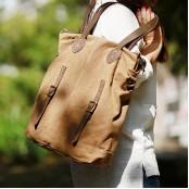 A4097 YURICE™ Damska miejska torba na ramię. Bawełna skóra
