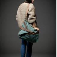 32 'MESSENGER' Torba na ramię bawełna i skóra naturalna