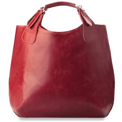 #2. SHOPPER II skórzana torebka damska shopperka, skóra naturalna. Kolor: czerwony