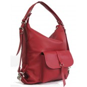 ★4. Damska torebka - plecak 2w1 skóra naturalna (kasztanowa)
