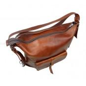 ★4c. Damska torebka - plecak 2w1 skóra naturalna (czarna)