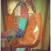 #2. SHOPPER II skórzana torebka damska shopperka, skóra naturalna. Kolor: beżowy