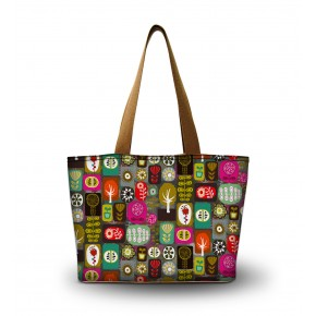 4. Damska torba na ramię, bawełna