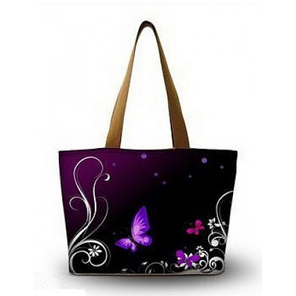 7. Damska torba na ramię, bawełna