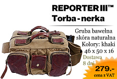 REPORTER TORBA FOTOGRAFICZNA NERKA SKORA NATURALNA